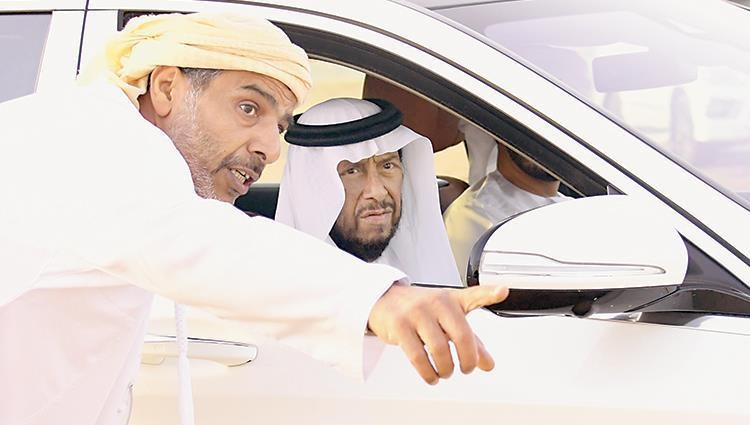 Sultan bin Zayed during his presence in Al-Shat in Sweihan (photos from WAM)