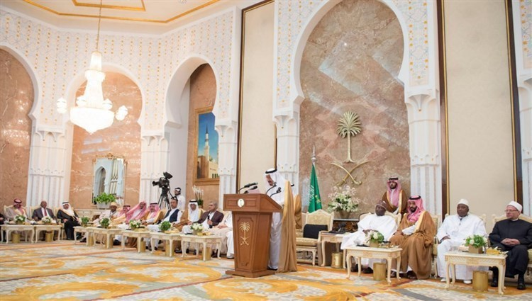 Trustee of the Two Holy Mosques receives the heads of Hajj delegations