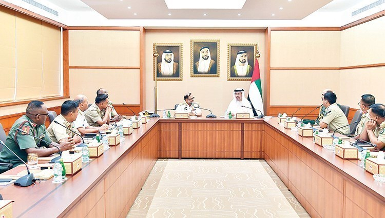 Ahmed Shabib Al-Dhahiri and members of the delegation during the visit (from the source)