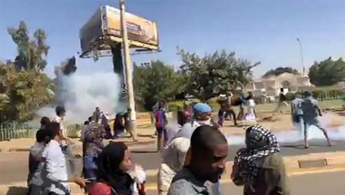 جانب من احتجاجات الخبز في السودان