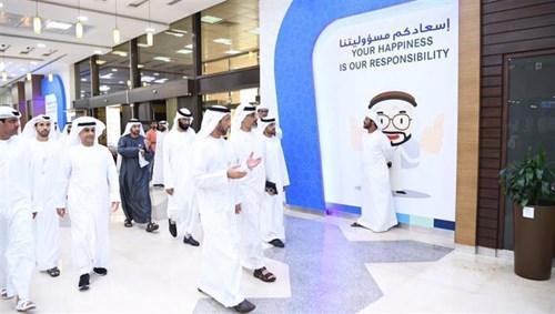 Khalid bin Mohammed bin Zayed informed of Abu Dhabi city development plans and services system