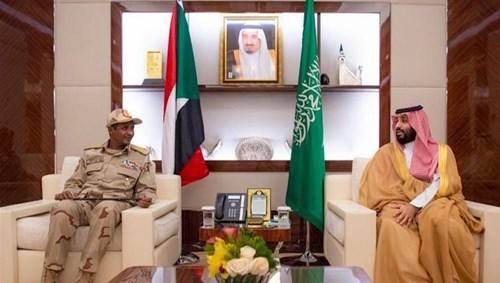 محمد بن سلمان يلتقي نائب رئيس المجلس الانتقالي السوداني