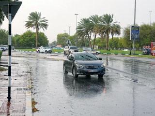 اخبار الامارات العاجلة 13a أمطار غزيرة على مدينة العين اخبار الامارات  الامارات اخبار الدار