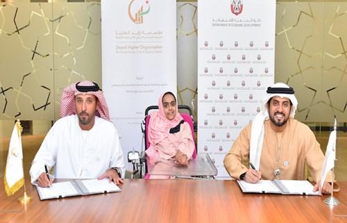 اقتصادية أبوظبي و زايد العليا تتفقان على منح أصحاب الهمم ترخيص تاجر أبوظبي