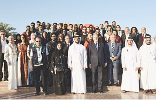 سلطان بن أحمد يفتتح مهرجان اليوم العالمي للجامعة الأميركية في الشارقة