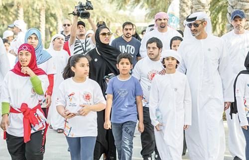 7d2ebdd92 سعيد بن حمدان آل نهيان حرص على المشاركة في الفعالية (الصور من المصدر)