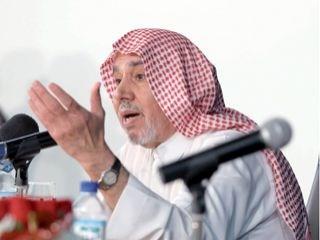إبراهيم البليهي خلال المحاضرة (من المصدر)