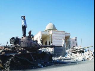 مسجد في إعزاز بعد قصفة من قبل قوات الأسد