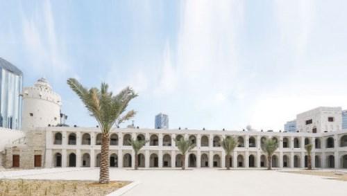 مشهد عام لواجهة قصر الحصن الرئيسية