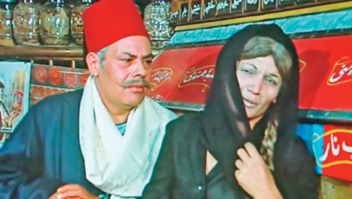 يحيى شاهين ونجوى فؤاد في فيلم «السكرية»