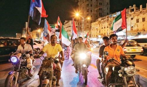 «مسيرة وفاء للإمارات» في ذكرى تحرر المكلا من «القاعدة»